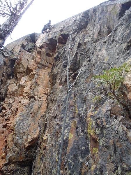 Rock Climbing Photo: Steven Van Sickle on Hot Line.
