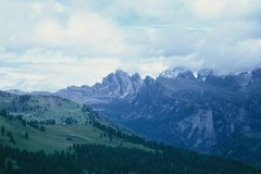 Rock Climbing Photo: The Geislerspitzen from the South; the Kleine and ...