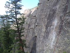 Rock Climbing Photo: Freshie bolts on Dr. Jones, the main wall is in th...