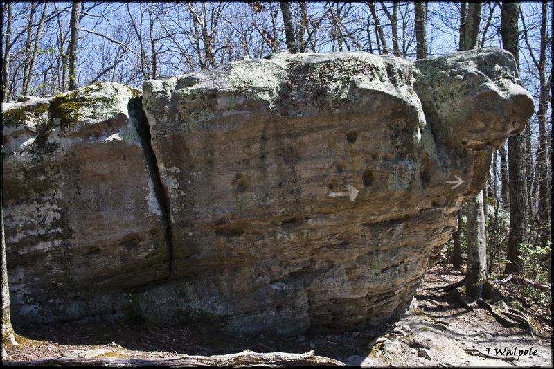 Rock Climbing Photo: The Arrow Boulder.