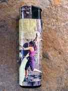 Rock Climbing Photo: Winlite lighter with Sylvia Mireles on Sole Fusion...