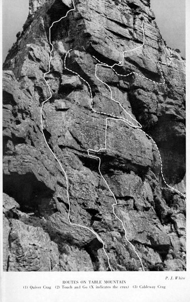 Rock Climbing Photo: Topo from the 1961 Journal of the Mountain Club of...