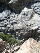 Rock Climbing Photo: Thrillbilly .11d.  Larryland, Bowman Lakes, CA.