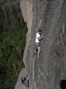 Rock Climbing Photo: John and Jordan - Starting the third pitch of the ...