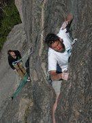 Rock Climbing Photo: John and Jordan - Third pitch of the RGC. John get...