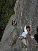 Rock Climbing Photo: John and Jordan - Third pitch of the RGC. shadow m...