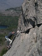 Rock Climbing Photo: Tom Bowker strolling the easy portion of the 2nd p...