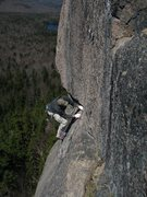 Rock Climbing Photo: Tom Bowker approaching the 2nd pitch belay, Crack ...