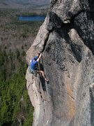 Rock Climbing Photo: Adam into the arching crack, Crack of the World, 3...
