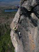 Rock Climbing Photo: Tom cleaning, p3, Crack of the World