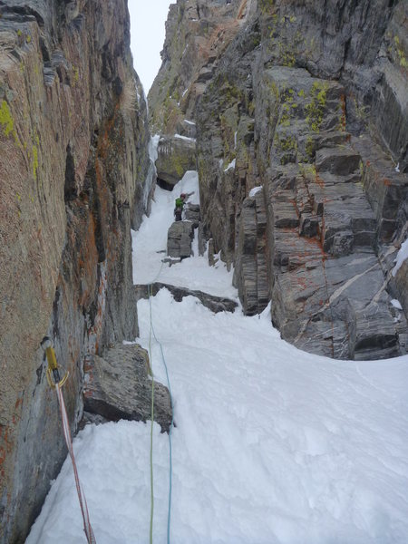 Rock Climbing Photo: 5/5/2013. About 5 days after 2 feet of snow fell o...