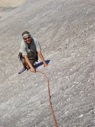 Rock Climbing Photo: Starting up pitch 1