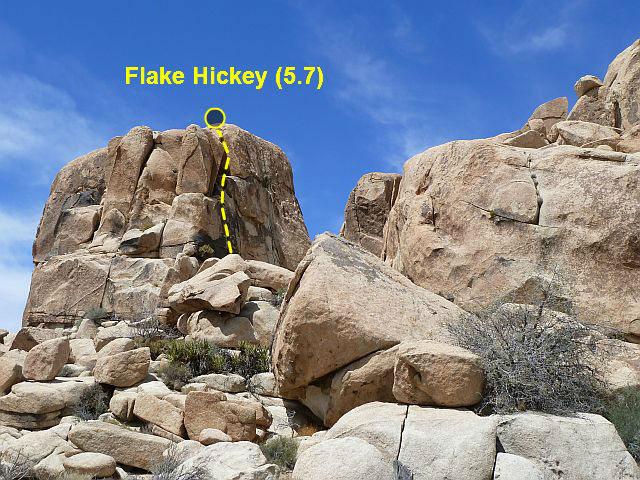 Rock Climbing Photo: Flake Hickey (5.7), Joshua Tree NP