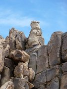 Rock Climbing Photo: The Snowman near the Vagmarken Hill, Joshua Tree N...