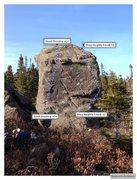 Rock Climbing Photo: Leamy's Pond Right Topo