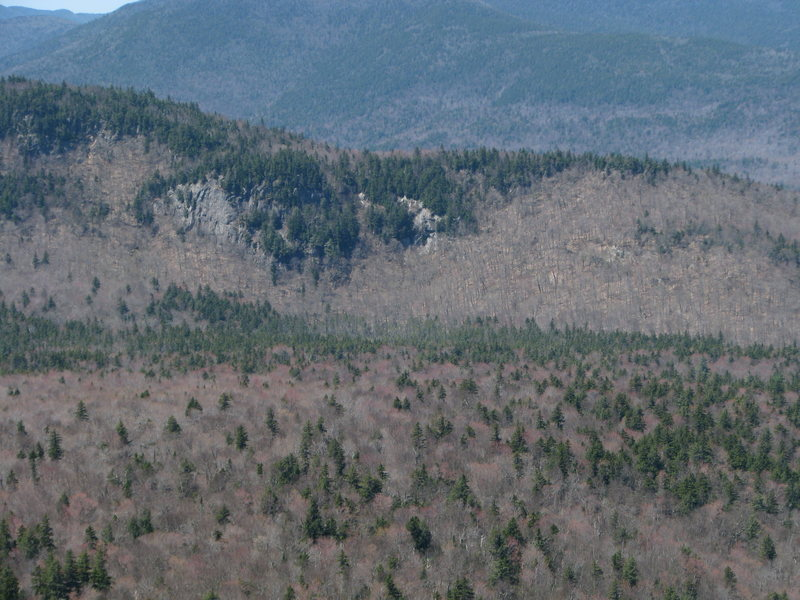 The right-hand most of the Northeastern crags, closest to Sawyer Pond