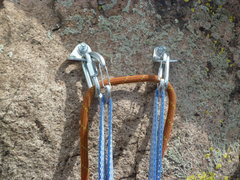 Rock Climbing Photo: The new anchors.