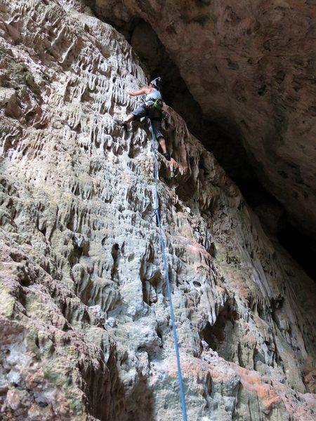 "Rock Climbing Photo: ""No Refund"" 5.8 - Nuevo Bayamon, 'Pasill..."