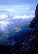 Rock Climbing Photo: Valley base of San Martino di Castrozza from Cima ...