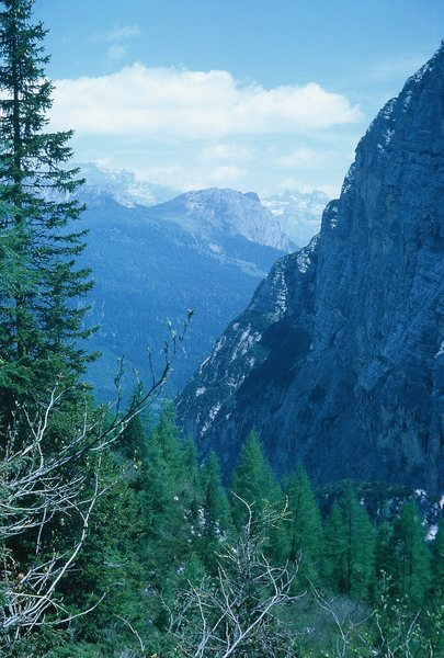 Rock Climbing Photo: In the Sorapiss Group. Many old World War I emplac...