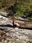 Rock Climbing Photo: Joshua Corbett contemplates the crux moves on &quo...