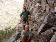 Rock Climbing Photo: his smile