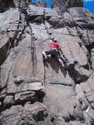 Rock Climbing Photo: Jesse gives this a go for his 2nd climb, ever!  Th...
