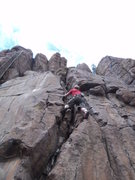 Rock Climbing Photo: Jesse Hanks cruises up this for his 3rd climb ever...