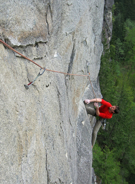 Dylan Johnson on the second pitch of Tales From Zahajko. (Photo from Defecto)