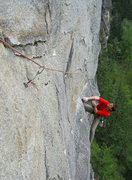 Rock Climbing Photo: Dylan Johnson on the second pitch of Tales From Za...