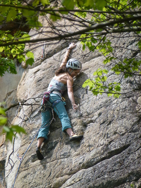 Erica tipped out on the final crux