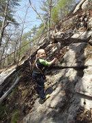 Rock Climbing Photo: Zackary coming down