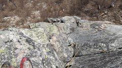 Rock Climbing Photo: Square top belay