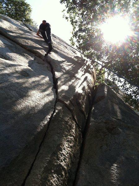 Rock Climbing Photo: David Leoncini. The Y-Crack.