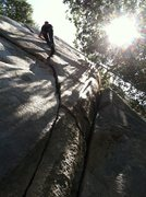 Rock Climbing Photo: David Leoncini. The Y-Crack.