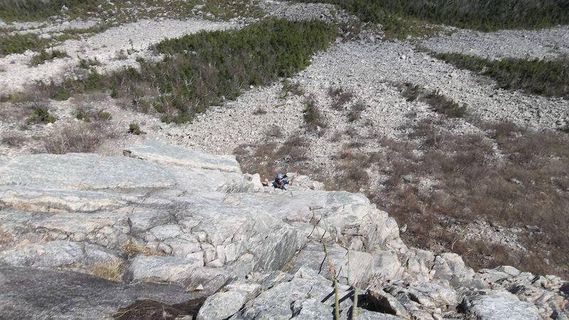 Top of Muir Buttress.