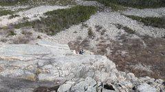 Rock Climbing Photo: Top of Muir Buttress.