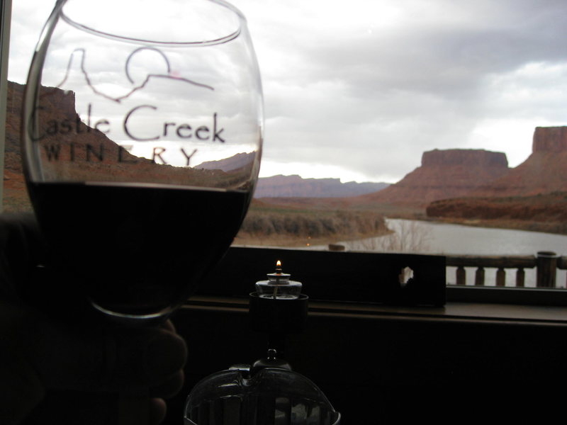 red, red, wine at the red cliff's  lodge