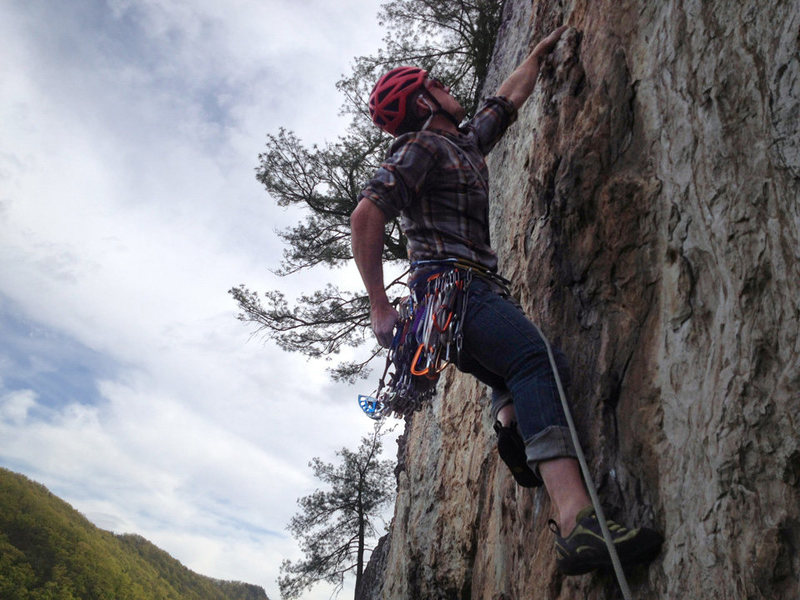 Rock Climbing Photo: Soler, 5.7 (seneca rocks, WV)