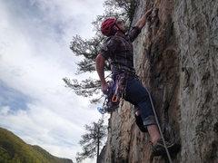 Rock Climbing Photo: Soler, 5.7 (seneca rocks, WV)