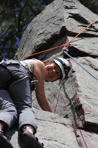 Climbing Beginner's Face on The Guillotine.