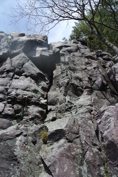 "Rock Climbing Photo: ""Goodbye Youth"" climbs the obvious weakn..."