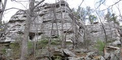 Rock Climbing Photo: South (left) and North (right) Bullwheel Face, Dic...