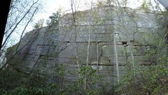 Rock Climbing Photo: Clamshell Wall, Dickie Barre