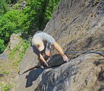 Rock Climbing Photo: John T. on the first pitch of 116 orc tower rd. (p...