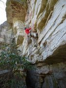 Rock Climbing Photo: in the Fortress area of Dickie Barre