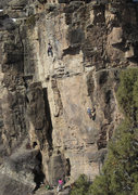 Rock Climbing Photo: Unknown teams on Puppy Love buttress: Tooth (left)...