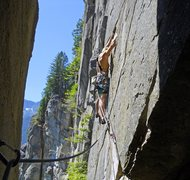 Rock Climbing Photo: Leaving the belay on the second pitch of Opportuni...