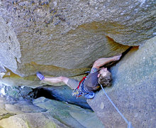 Rock Climbing Photo: Topping out on P1 of Opportunity of a lifetime. (P...