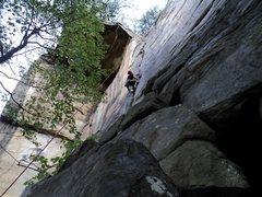 Rock Climbing Photo: New River Off Width